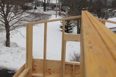 Ridge beam in place.
