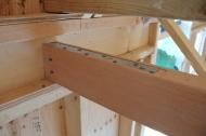 Tie attached to the Douglas Fir loft framing.