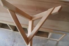 Maple bracket to hold up fold away diner table