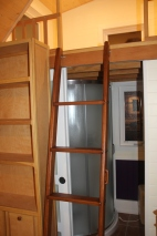 Ladder to second loft, made of Ash