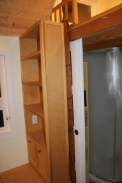 Door and Ladder stowed away behind the shelves