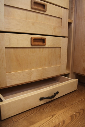 Toe kick drawer, can be opened with your toes!
