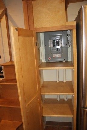 The Circuit panel hidden at the back of the pantry.