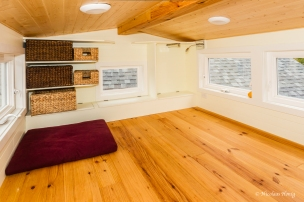Main bedroom, showing the beautiful Honduras Pine flooring