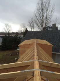 Great view of the roof framing